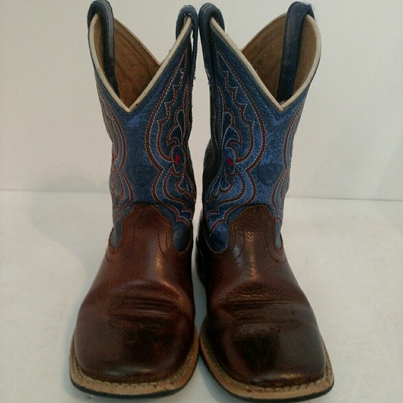 abe2f3145cd Ariat 4LR Quickdraw Brown Rowdy/Royal Size 8 Todlr